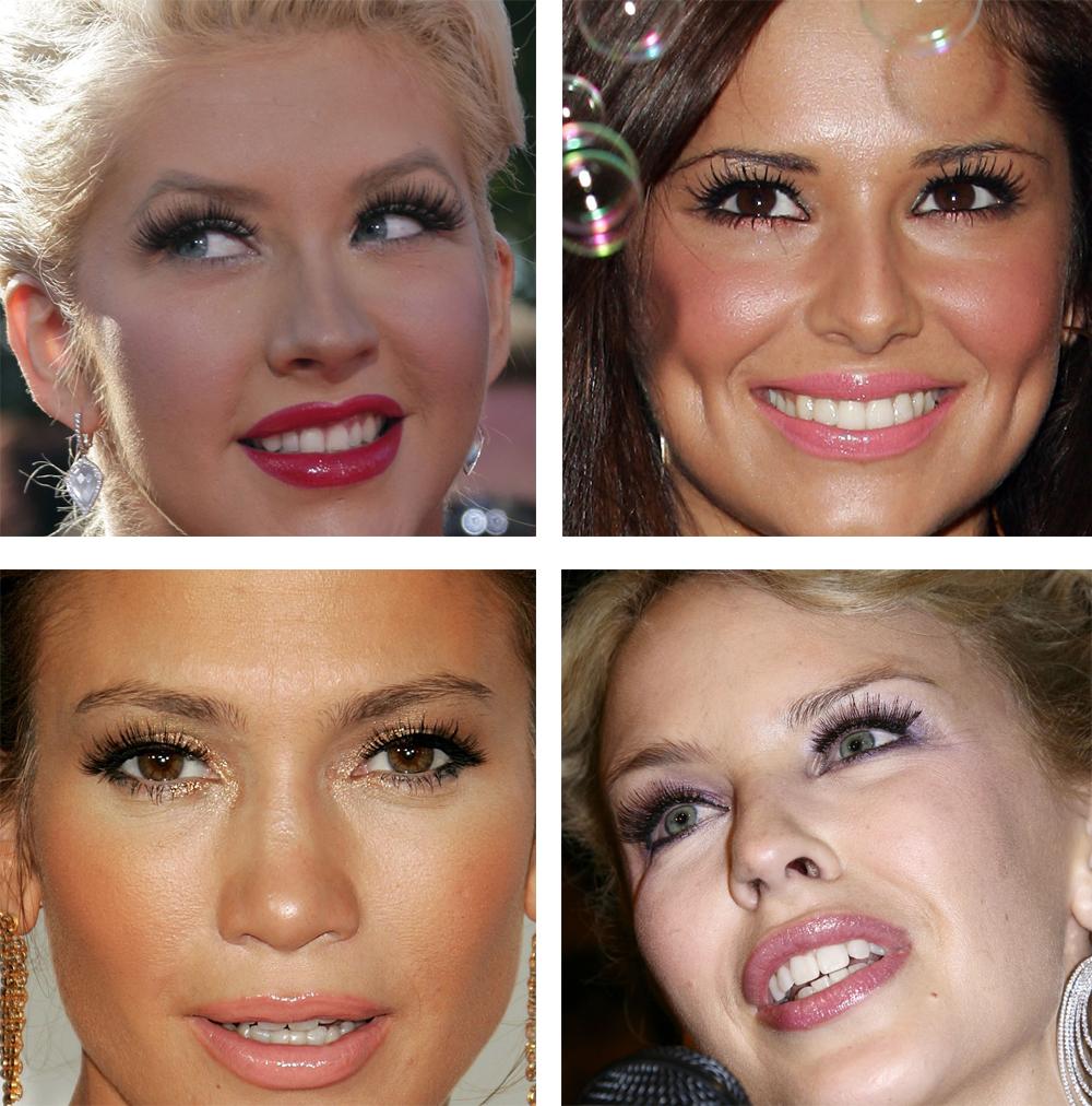 Celebrity s umelými mihalnicami | foto: islandtan.wordpress.com