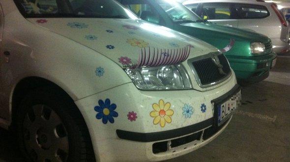 Umelé mihalnice najkrajšie auto Bratislavy | foto: vas.cas.sk