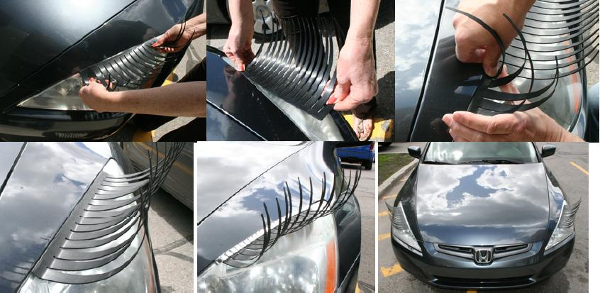Umelé mihalnice pre auto, aplikácia | foto: carlashes.com
