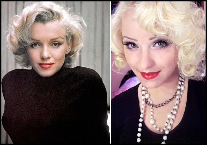 Marilyn monroe make-up a umelé mihalnice | monroemisfitmakeup.com