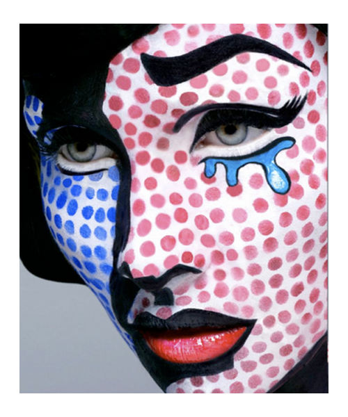 Pop art inšpirácia na make-up | francescarosemua.blogspot.com