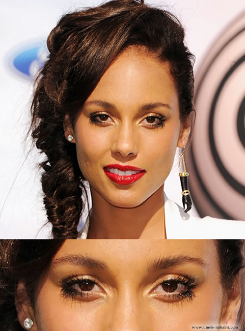 Alicia Keys umelé mihalnice | imabeautygeek.com