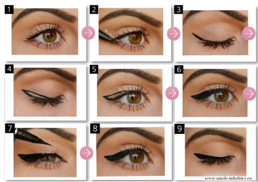 ako si nakresliť očnú linku | style-n-naina.com